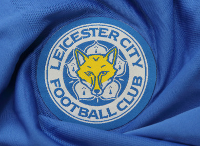 Leicester City Football Club's logo on a jersey