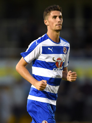 Shane Griffin playing for Reading in a pre-season friendly against Bristol Rovers in 2015.