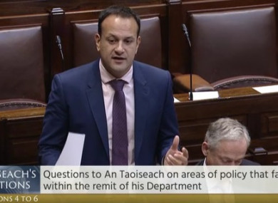 Leo Varadkar defending the establishment of his new communications unit this afternoon.
