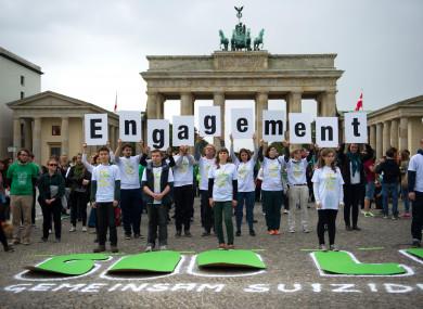 Mental health activists in Berlin, Germany in 2014.