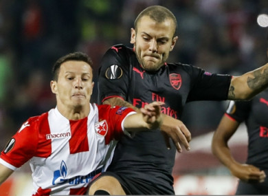 Jack Wilshere (right).