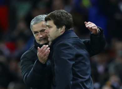 Jose Mourinho comes up against Mauricio Pochettino as Man United take on Tottenham this weekend.