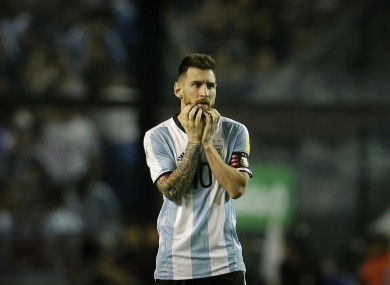 Messi after last night's draw.