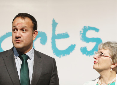 Taoiseach Leo Varadkar with Minister for Children and Youth Affairs Dr Katherine Zappone