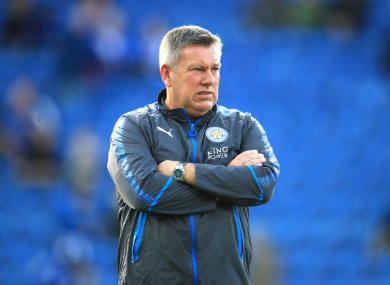 Craig Shakespeare (file pic).