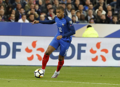 18-year-old Mbappe is tipped to become one of the games's great strikers.
