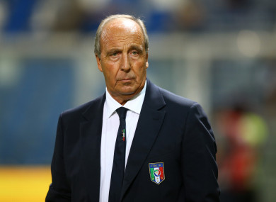 Italy manager Gian Piero Ventura.
