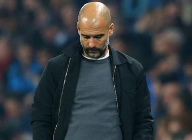 Guardiola was not happy.