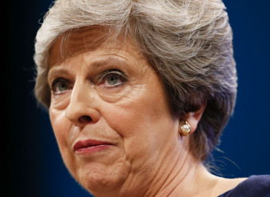 Theresa May delivering her keynote speech last week