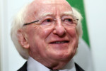 Michael D Higgins pictured in Canberra last week