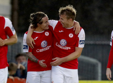 Rhys McCabe (left) and Vinny Faherty (right) were both on the scoresheet tonight.