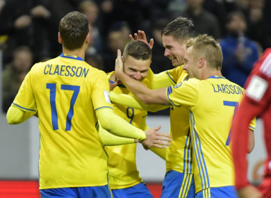 Marcus Berg: four for Sweden.