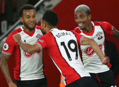 Southampton players celebrate.