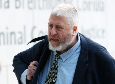 Tom Humphries arriving at court earlier this month.