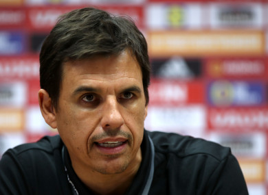 Coleman speaking in Cardiff today.