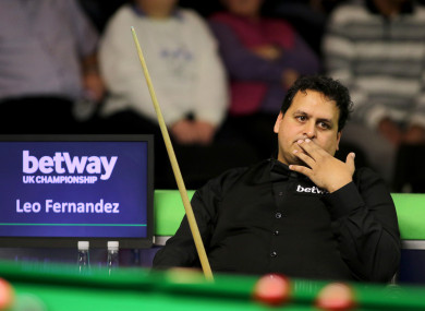Leo Fernandez on day one of the 2017 Betway UK Champions at the York Barbican.