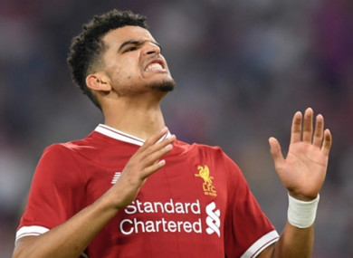 Dominic Solanke has received limited game time at Liverpool.
