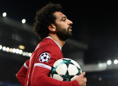 Mo Salah has been in superb form for Liverpool this season.