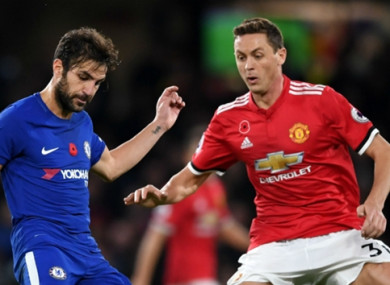 Nemanja Matic (right) made the switch from Chelsea to Man United in the summer transfer window.