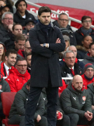 Tottenham Hotspur manager Mauricio Pochettino during the Premier League match at the Emirates Stadium.