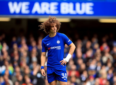 David Luiz was left out of Chelsea's matchday squad today.