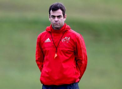 New Munster head coach Johann van Graan on the training ground in Limerick this week.
