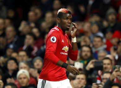 Pogba returned to action yesterday having been sidelined since mid-September.