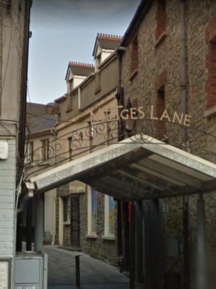 The entrance into Metges Lane