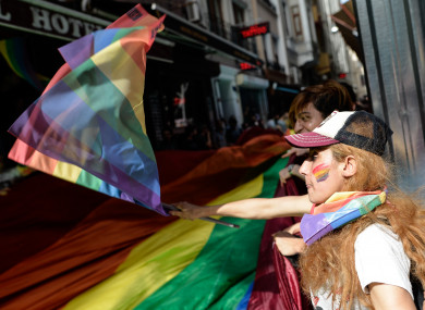 Police dispersed a group of around 50 people who wanted to stage a LGBT Trans Pride March on the afternoon of 19 June 2016, in Istanbul's Taksim Square.