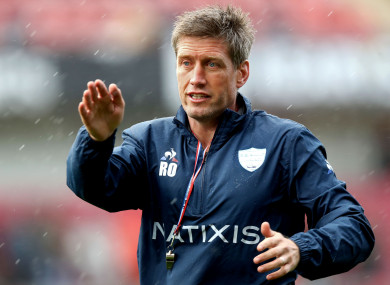 O'Gara has been assistant coach with Racing since 2013.