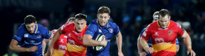 Ice-cool Byrne steers Leinster to 8-try win over Dragons