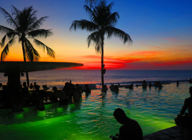 The volcano is located about 75 km from some of Bali's most popular tourist areas.