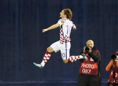 Modric hit the opening goal.