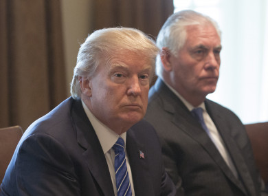 Trump and Tillerson.