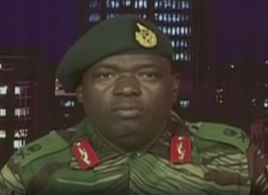 Major General Sibusiso Moyo, Chief of Logistics of the Zimbabwean army.