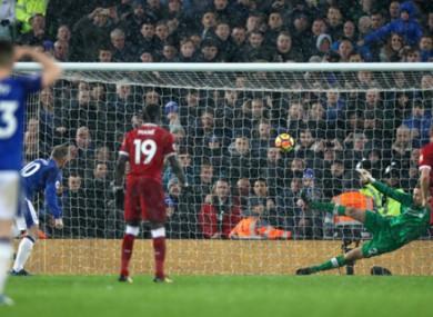 Wayne Rooney scores for Everton.