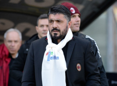 Milan boss Gennaro Gattuso insists he has had no thoughts of quitting.