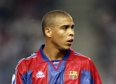 Ronaldo spent the 1996-97 season at Barcelona.