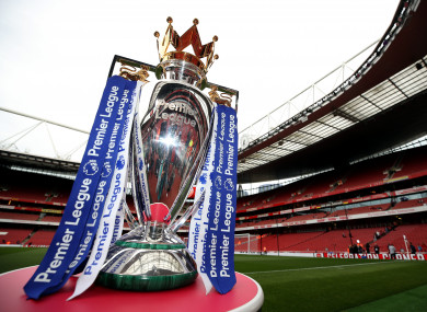 The Premier League trophy (file pic).