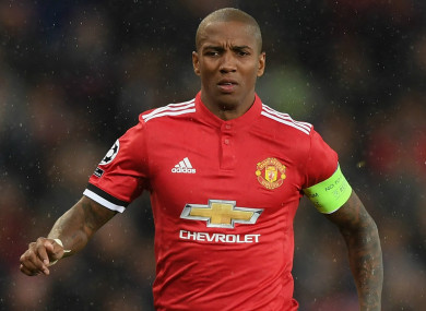 Manchester United's Ashley Young.
