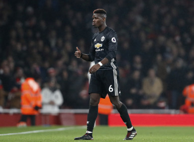 Pogba will miss the derby and two more Premier League games after his red card.