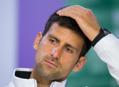 12-time grand slam champion Novak Djokovic