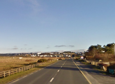 The road near where the crash happened at Sandhill, Dunfanaghy, Co Donegal.