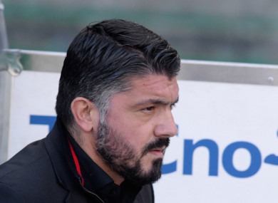 AC Milan coach Gennaro Gattuso.