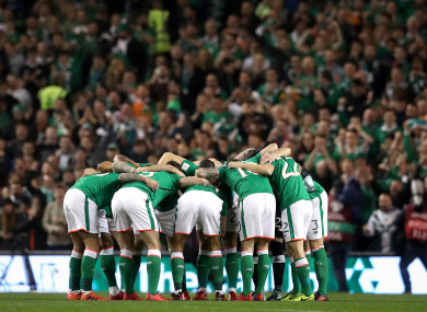 Ireland will face Turkey and France in 2018.