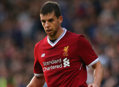 Liverpool defender Jon Flanagan.