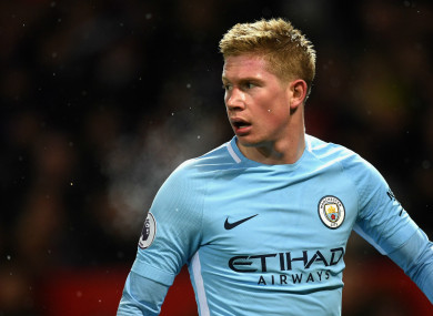 Kevin De Bruyne has been in superb form for Man City this season.