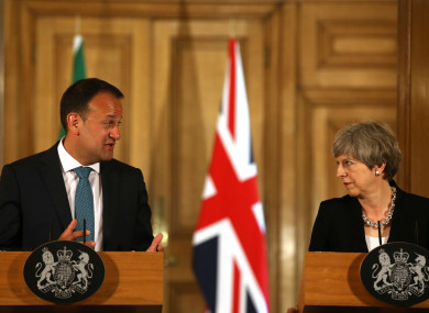 Leo Varadkar and Theresa May