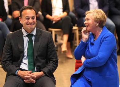Taoiseach Leo Varadkar and Tanaiste Frances Fitzgerald in September 2017.