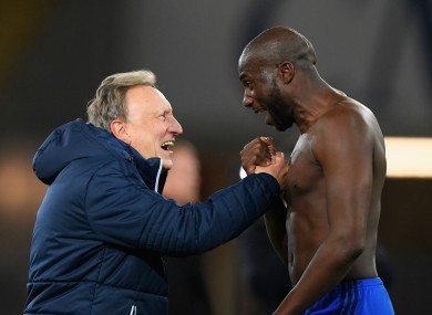 Neil Warnock and Sol Bamba